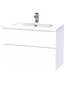New York 80 White Two Drawer Wall Hung Vanity Unit - 289-2