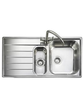 Oakland 1.5 Bowl Stainless Steel Kitchen Sink - LH Drainer