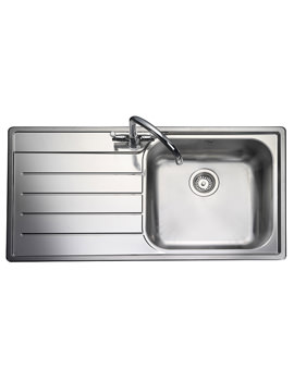 Oakland 1 Bowl Stainless Steel Kitchen Sink - Left Hand Drainer