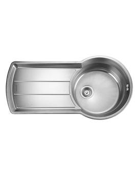 Rangemaster Keyhole 1.0 Bowl Stainless Steel Kitchen Sink - KY10001