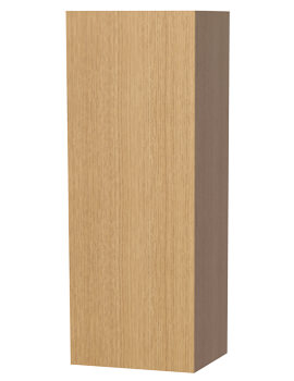 New York Oak Cabinet With Single Storage Door 400 x 1111mm