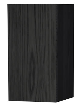 New York Black Single Door Storage Cabinet 275 x 590mm