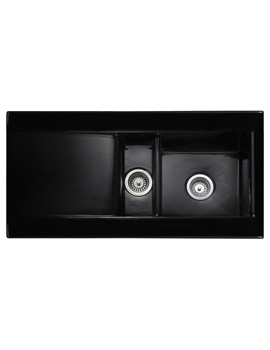 Nevada 1.5 Bowl Ceramic Kitchen Sink Black - CNV2BL