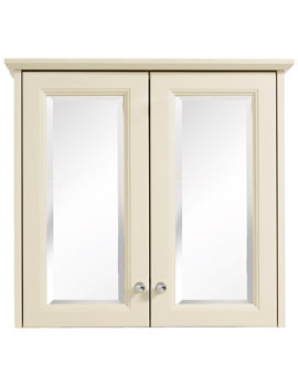 Caversham Oyster Double Door Mirrored Wall Cabinet