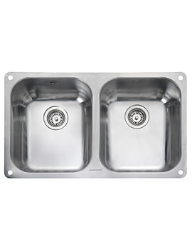 Atlantic Classic 2 Bowl Stainless Steel Undermount Kitchen Sink