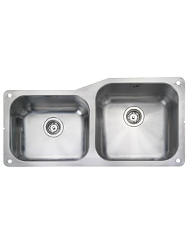 Atlantic Classic 2 Bowl Stainless Steel Undermount Sink Small LH