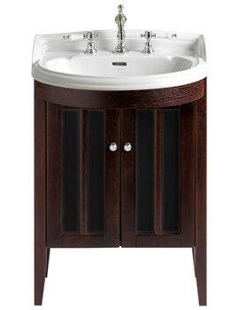 Related Heritage Freestanding Bowfront Medium Walnut Vanity Unit - FHW20