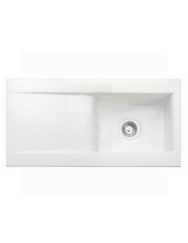 Nevada 1.0 Bowl White Ceramic Kitchen Sink - CNV1WH