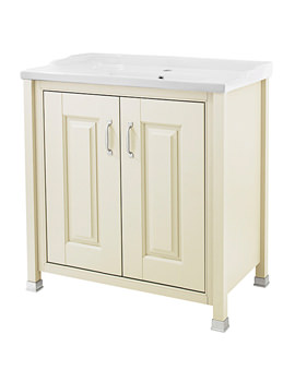 Old London 800mm Vanity Unit With Inset Basin Ivory