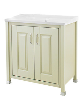 Related Old London Pistachio 800mm Vanity Unit And Inset Basin - LDF205