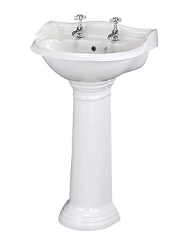 Related Old London Chancery 600mm 2 Tap Hole Basin And Pedestal - LDC122