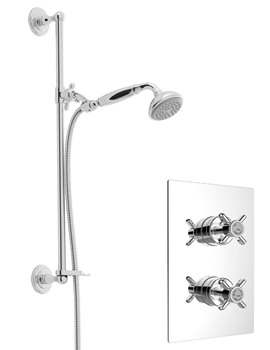 Dawlish Chrome Recessed Thermostatic Valve With Shower Kit