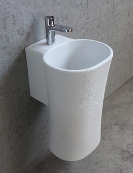 Nativo Corteccia 350mm Wall Hung Basin White Glazed Finish