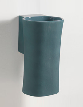 Nativo Corteccia 350mm Wall Hung Basin Blue Glazed Finish