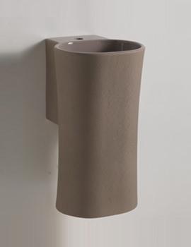 Nativo Corteccia 350mm Wall Hung Basin Grey Glazed Finish