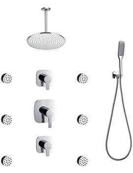 Urban Concealed Manual Shower Set With Body Jets