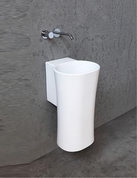 Related Azzurra Nativo 350 x 370mm No TH Wall Hung Washbasin Gloss White
