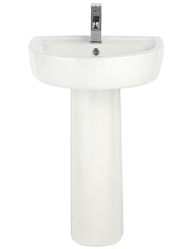 Mellow 420mm 1 Tap Hole Basin And Full Pedestal