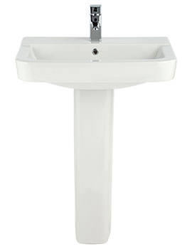 Brace 550mm 1 Tap Hole Basin And Full Pedestal