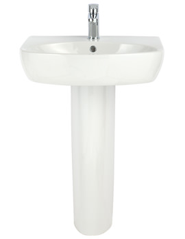 Related Balterley Piccolo 600mm 1 Tap Hole Basin And Full Pedestal