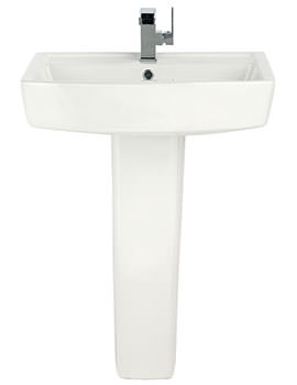 Related Balterley Jewel 520mm 1 Tap Hole Basin And Full Pedestal