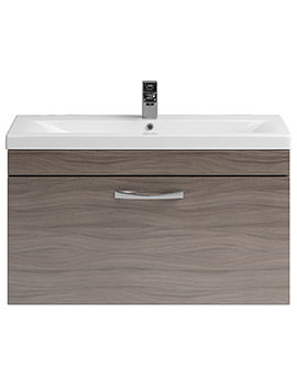 Lauren Shipton 800mm Driftwood Drawer Cabinet And Basin - DK81DW, NVM015