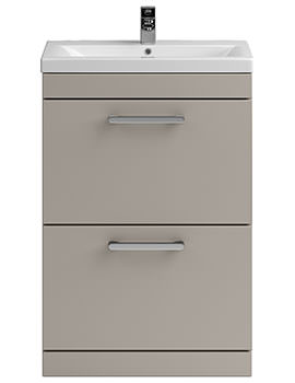 Related Balterley Shipton 600mm Stone Grey 2 Drawer Floor Standing Unit And Basin