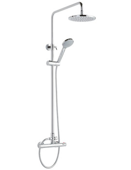 Related Beo Medley Thermostatic Bar Shower Valve With Rigid Riser Set