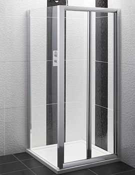 Beo Bi-Fold Framed Shower Door 760mm - AQBD76