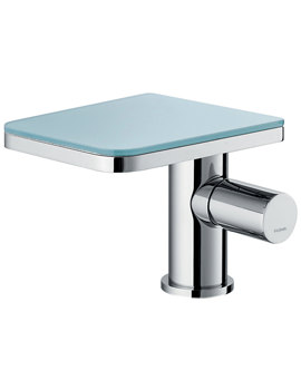 Flova Annecy Glass Basin Mixer Tap With Clicker Waste