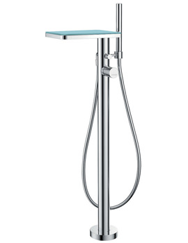 Related Flova Annecy Glass Floor Standing Bath-Shower Mixer Tap With Kit