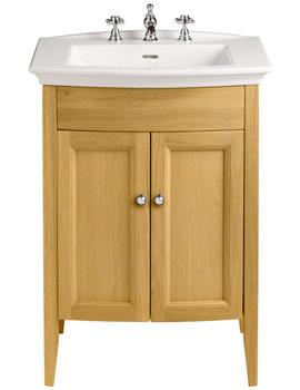 Caversham Oak Vanity Unit For Blenheim Basin - KOAHP34