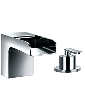 Cascade 2 Hole Deck Mounted Bath Filler Mixer Tap
