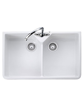 Double Bowl Belfast White Ceramic Kitchen Sink