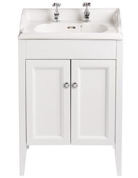 Caversham White Ash Vanity Unit For Dorchester Square Basin