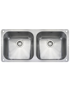 Atlantic Classic Stainless Steel 2 Bowl Kitchen Sink 945mm