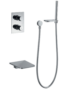 Related Flova Annecy Thermostatic Shower Valve With Diverter-Spout And Handset Kit