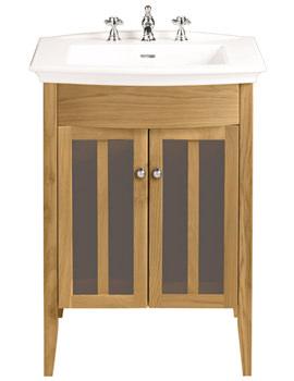 Heritage Freestanding Oak Vanity Unit For Blenheim Basin- FHOAHP34