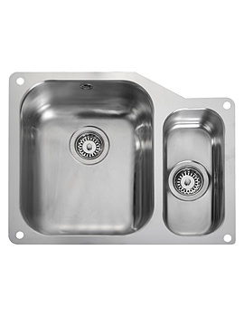 Atlantic Classic Undermount 1.5 Bowl Kitchen Sink Small Right