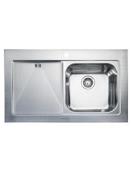 Mezzo 1 Bowl Stainless Steel Kitchen Sink - Left Hand Drainer