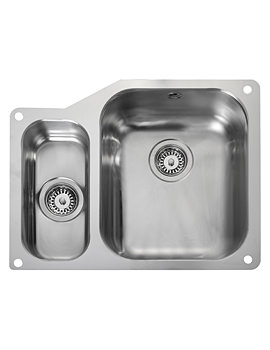 Atlantic Classic Undermount 1.5 Bowl Kitchen Sink Small Left