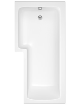 Balterley Square Left Hand Showerbath 1500 x 850mm - BMBS1585L