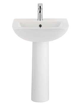 Related Balterley Reflection 500mm 1 Tap Hole Basin With Full Pedestal