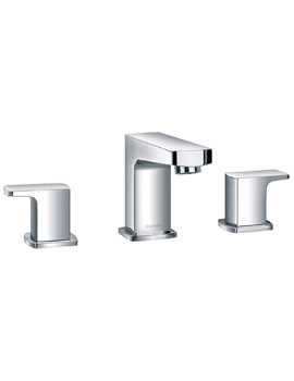Dekka 3 Hole Deck Mounted Basin Mixer Tap With Clicker Waste