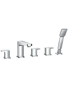 Dekka 5 Hole Bath-Shower Mixer Tap With Handset And Hose