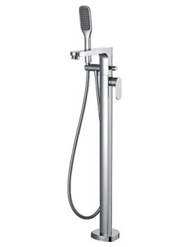Smart Floor Standing Bath-Shower Mixer Tap With Handset Kit