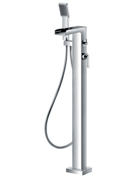 Related Flova Cascade Floor Standing Tall Bath-Shower Mixer Tap With Handset Kit