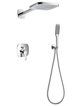 Flova Urban Manual Valve - Diverter And 2 Mode Shower Head With Kit