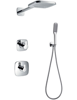 Urban Thermostatic Valve With Diverter-Dual Head And Handset Kit