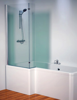Thames 1500mm Left Shower Screen - 154THAMESSCLH